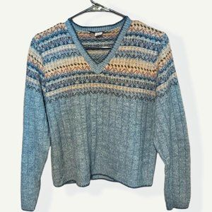 Y2K Sweater Project V Neck Sweater sz S